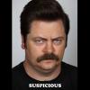 ron mood: suspicious