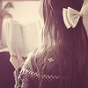 girl in lace reading
