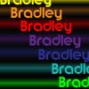 Bradley rainbw-neon-font
