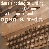just open a vein, nothing to writing