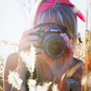 [stock] girl with camera