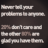 never tell your problems