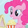 popcorn during a stampede, mlp - pinkie pie