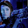 Mass Effect 2: FemShep with gun