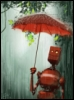 робот под дождем