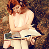 books: redhead reading