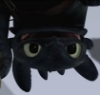 Toothless upside down