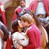 cakeordeath44: Merlin - Arthur&Gwen snog after battle