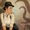 woman fedora tentacles