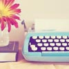 Typewriter Blue