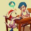 yuka: Joe and Gomamon <3