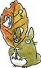 тоторо с осенним листом