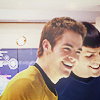 Kirk and Spock laugh