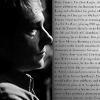 Sherlock/John b&w text