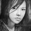 Японская девушка ч.б