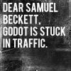 godot is stuck in traffic