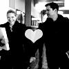 Larissa: Fringe_Peter/Olivia holding hands BW