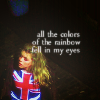 Doctor Who-colors of the rainbow.