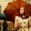 X-Men: lady with a red umbrella