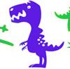 Dinosaur: purple cartoon