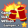 plus, camperbadge, camp, sick!Wilson