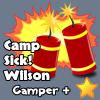 camperbadge, plus, camp, sick!Wilson