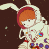 MISC ♚ bunnies in outer space