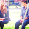 Fandom - Castle - Caskett on the swings