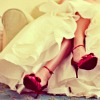 Nothing to see here, move along.: red shoes on