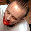 lecter bloody face
