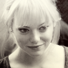 Actress Emma Stone blonde