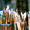 art, paintbrushes