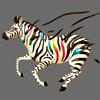 Разноцветная зебра