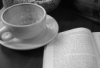 coffee, reading, books