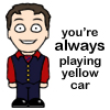 cabin pressure - yellow car