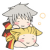 Nekotalia - Germany and Prussia sleeping