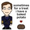 Disassembly of Reason: Cabin Pressure baked potato treat