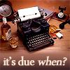 typewriter - it's due when?
