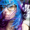 [something witty should go in here]: pretty girls - blue hair