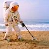 Astronaut beach combing