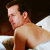 Suits Harvey naked back