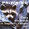 PriWriMo - Stephen's trousers