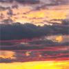 pink, sunset
