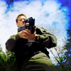 Daniel with gun