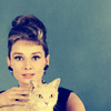 audrey with cat
