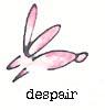pink fuzzy bunny of despair