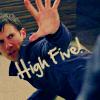 arthoniel: Heroes- High five!