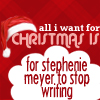 Seasons - Christmas Meyer stop writing