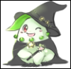 Halloween Witch Chikorita by magicalondi