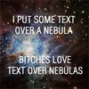 gen text over a nebula